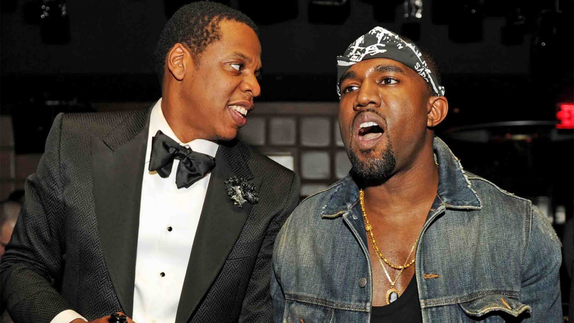 Download Wallpaper 1920x1080 Jay Z Kanye West Look Chain Teeth Full Hd 1080p Hd Background