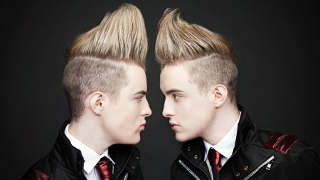 jedward, blondes, haircuts
