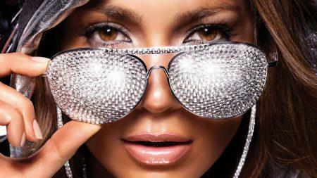 jennifer lopez, glasses, strass