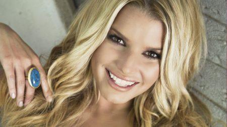 jessica simpson, blonde, smile