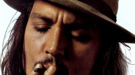 johnny depp, cigarette, face