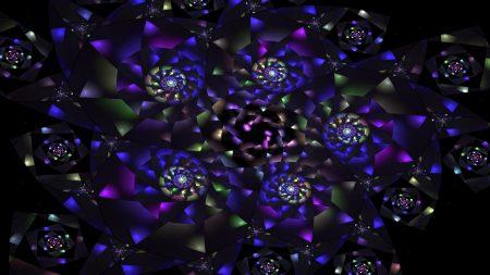 kaleidoscope, lilac, flowers