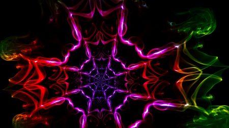 kaleidoscope, shapes, light