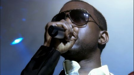 kanye west, glasses, microphone