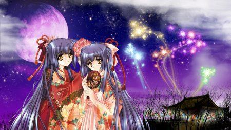 kao no nai tsuki, girl, kimono