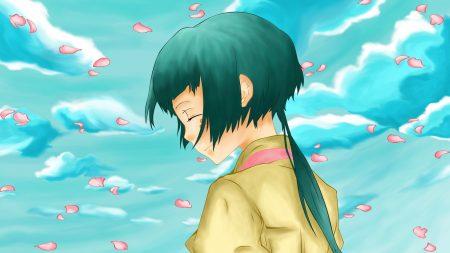 katekyou hitman reborn, girl, petals