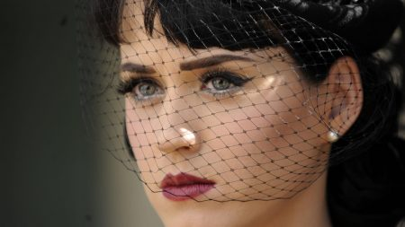 katy perry, veil, make-up