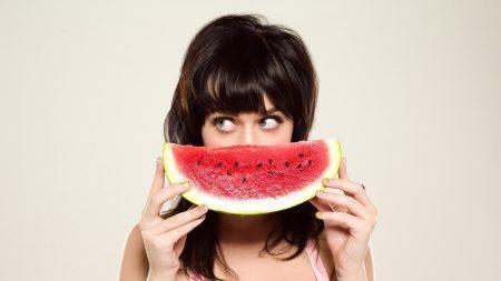 katy perry, watermelon, girl
