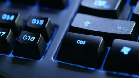 keyboard, backlit, black