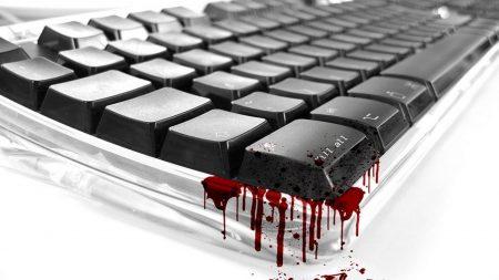 keyboard, black, blood