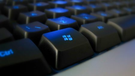 keyboard, black, blue