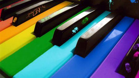 keys, colors, piano