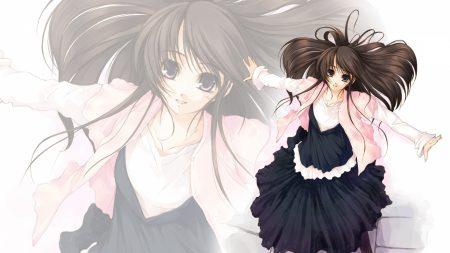 kirishima satoshi, girl, brunette