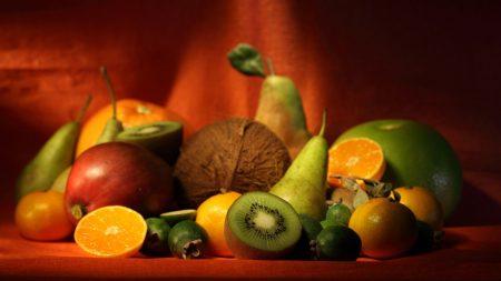 kiwi, pears, oranges