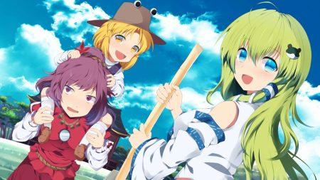kochiya sana, girls, broom