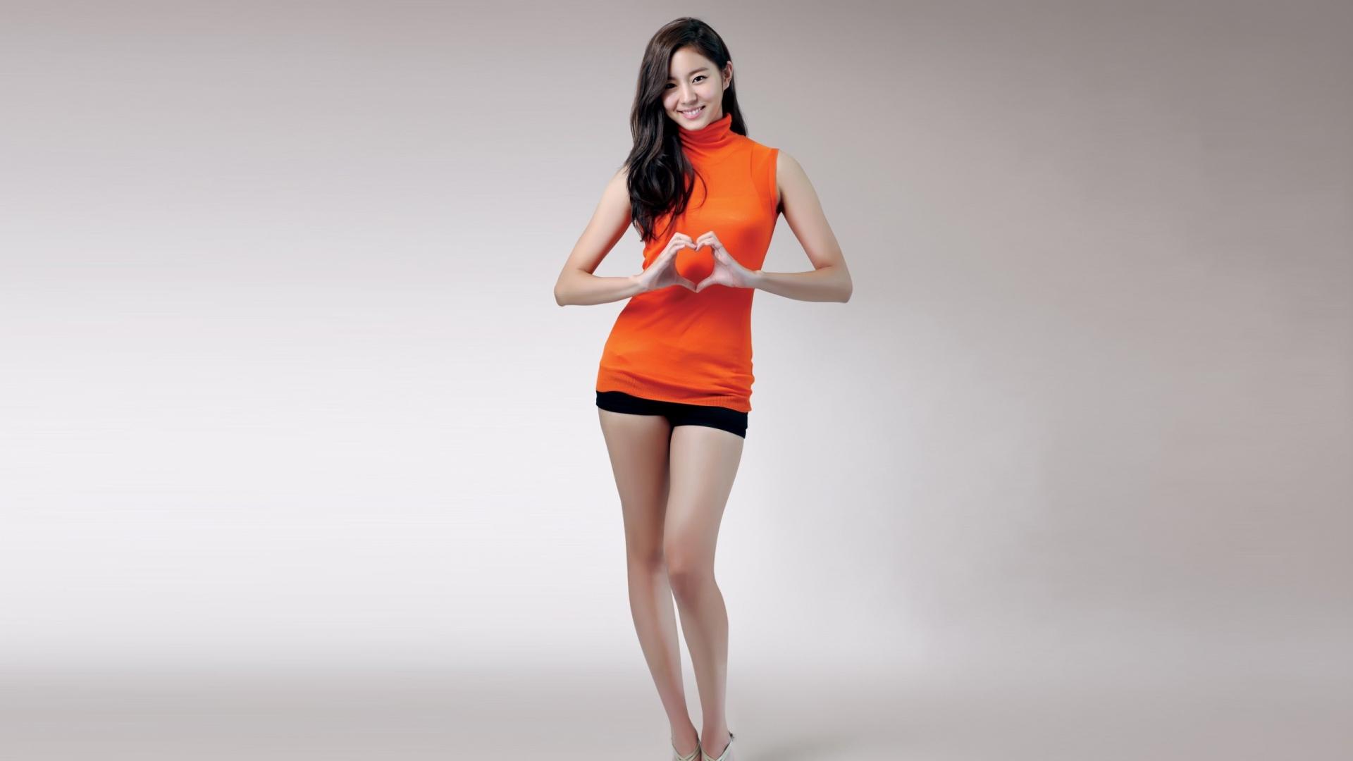 Download Wallpaper 1920x1080 korea, girl, style, model
