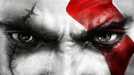 kratos, god of war, face