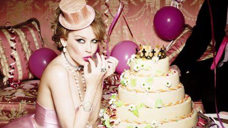 kylie minogue, celebration, cake