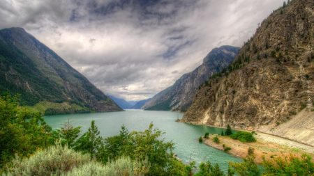 lake, canada, mountain
