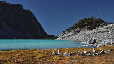 lake, coast, stones