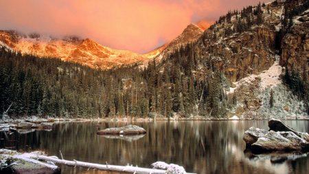 lake, colorado, stones