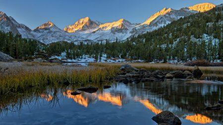 lake, mountain, landscape