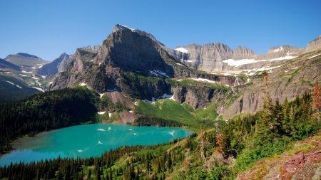 lake, mountains, landscape