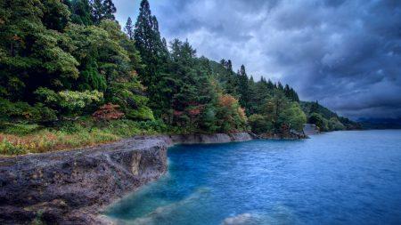 lake, water, blue