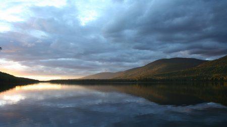 lake, water, smooth surface
