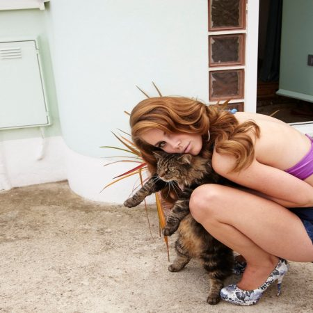 lana del rey, cat, girl