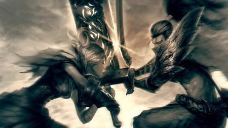 league of legends, yasuo, riven