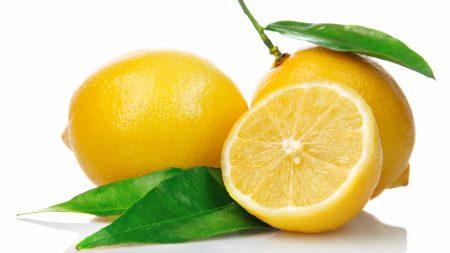 lemon, cut, leaf