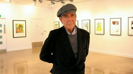 leonard cohen, exhibition, pictures
