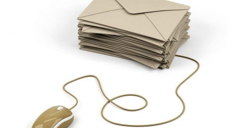 letters, envelopes, computer mouse
