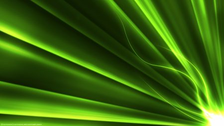 light, green, line