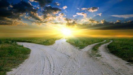 light, roads, crossroads
