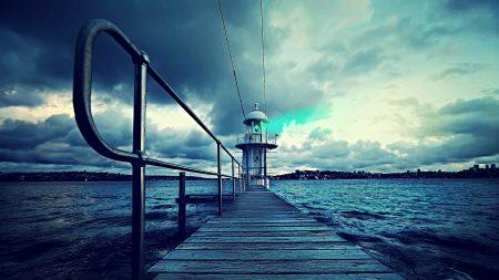 lighthouse, sea, construction