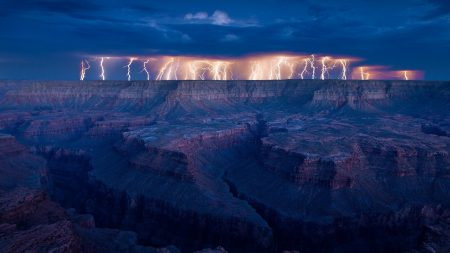 lightning, night, line element