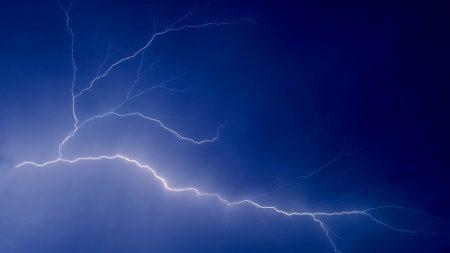 lightning, sky, lines