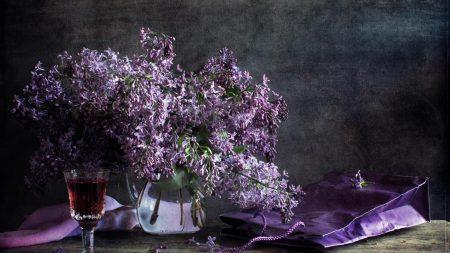 lilac, pitcher, flower