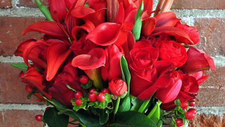 lilies, callas, roses