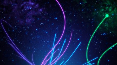 line, light, neon