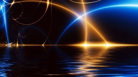 line, light, sea