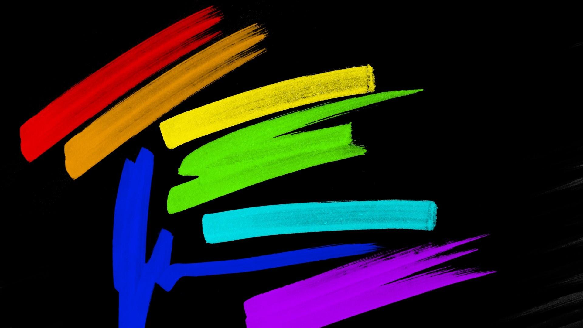 line, multi-colored, black