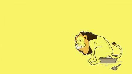 lion, tray, toilet