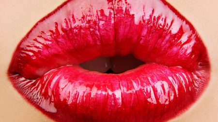 lips, girl, lipstick