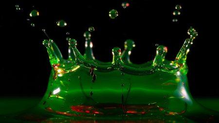 liquid, green, black