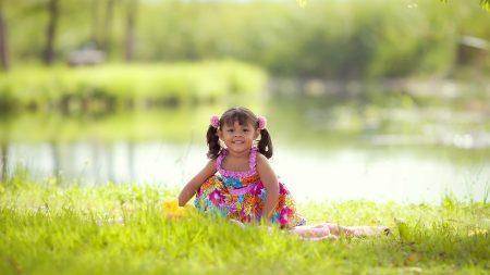 little girl, summer, light