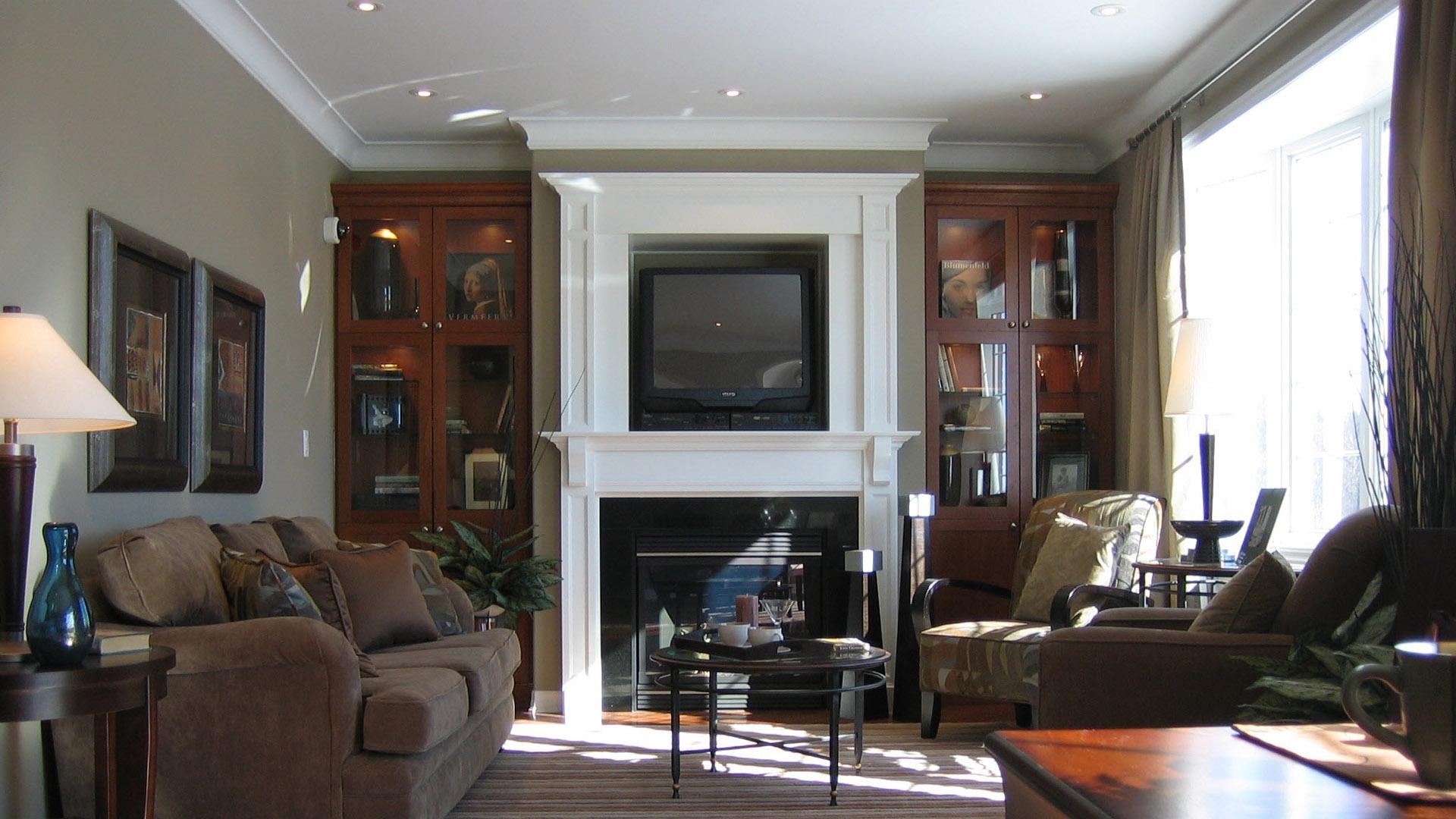 Download Wallpaper 1920x1080 Living Room Bathroom Tv Furniture