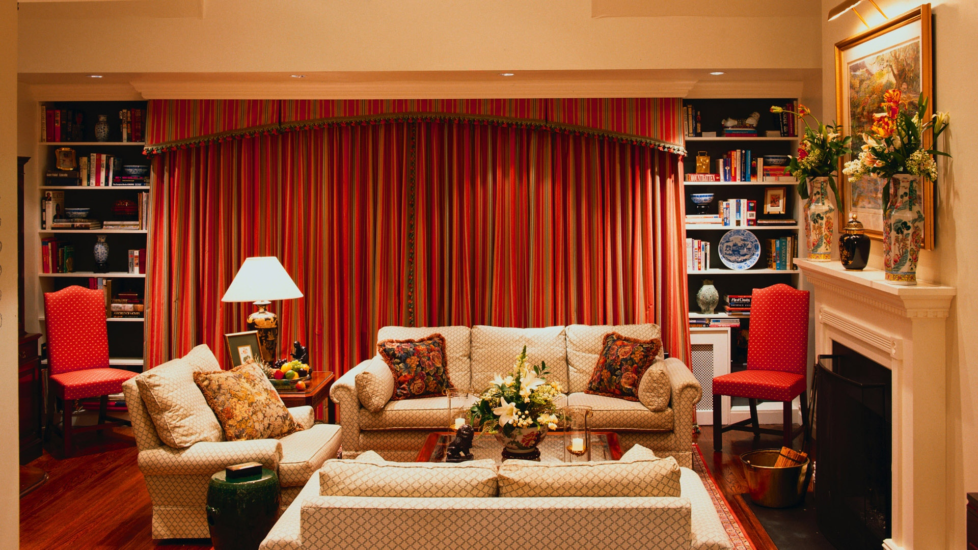 Download Wallpaper 1920x1080 living room, furniture ...